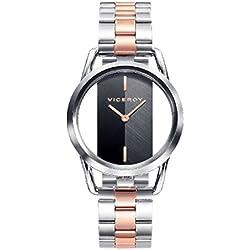 Viceroy Reloj Analógico para Mujer de Cuarzo con Correa en Acero Inoxidable 42336-57
