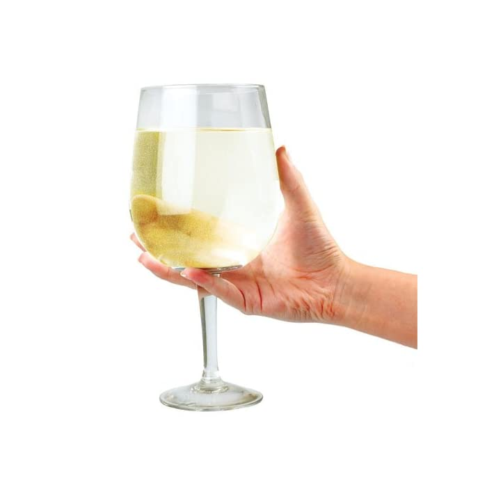 Riesen Glas Wein - hält eine ganze Flasche Wein!