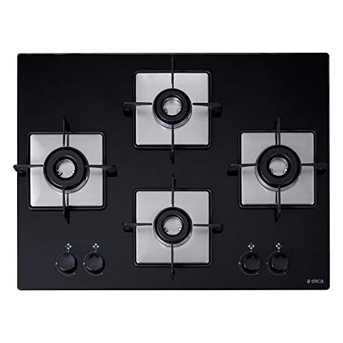 Elica Hob 4 Italian Burner Auto Ignition Glass Top - 2 Big...
