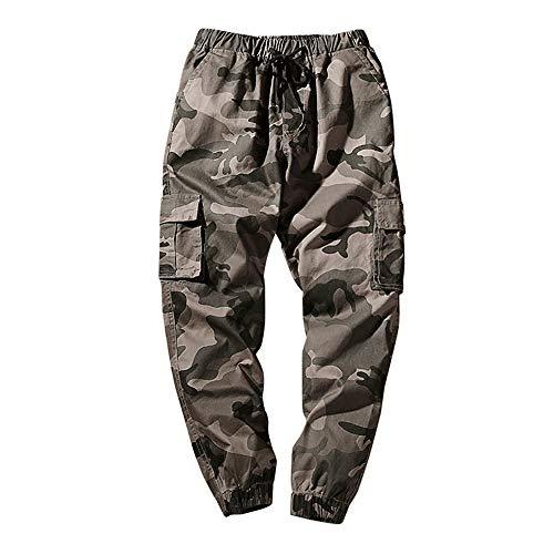 MOVERV Pantalones Camuflaje Militar Chándal Sueltos