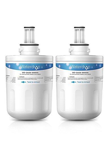 Waterdrop Kühlschrankfilter,kompatibel, Samsung Aqua Pure Plus Hafin, Gefrierschrank, DA29–00003G,2Stück
