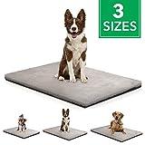 BELISY Hundematte Happy - Hundedecke Rutschfest - waschbarer Bezug - weiches Plüsch Hundebett grau