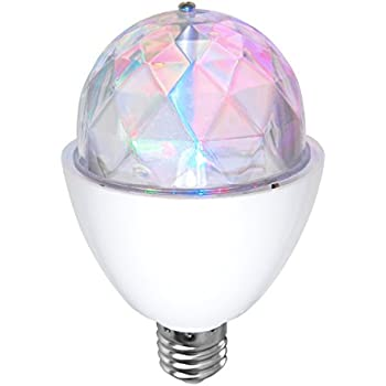 Bombilla LED disco light RGB de SeveOn Light 53086, 3W, E27, 180º, giratoria [Eficiencia energética A+]