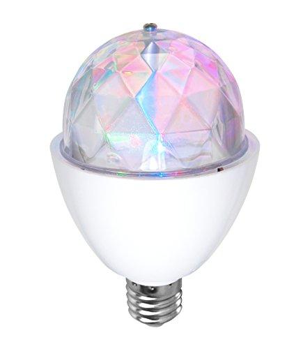 Bombilla LED disco light RGB de SeveOn Light 53086, 3W, E27, 180º, giratoria [Eficiencia energética A+]