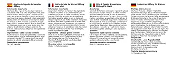 Huile de Foie de Morue 550mg pour Chat | 180 Gélules | Riche en Acides Gras Oméga 3, Vitamines A & D et EPA | Fabriqué au Royaume-Uni