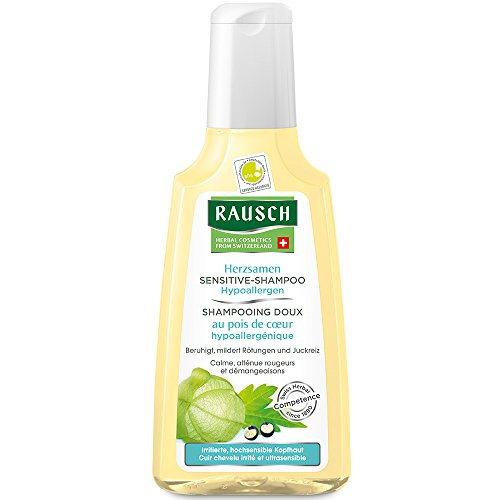 Rausch Herzsamen Sensitive-Shampoo (Hypoallergen pflegt besonders mild hochsensible Kopfhaut, ohne Silikone und Parabene), 3er Pack (3 x 40 ml)