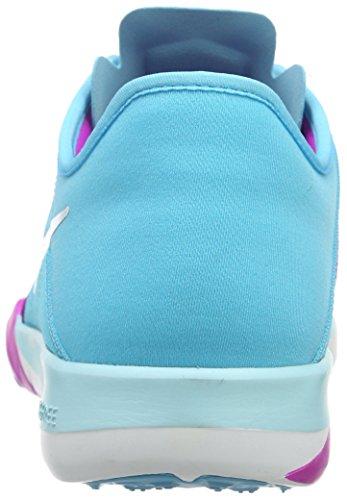 Nike Damen Free Trainer 6 Hallenschuhe Schwarz (Gmm Bl/White-Hypr Vlt-Fchs Glw)
