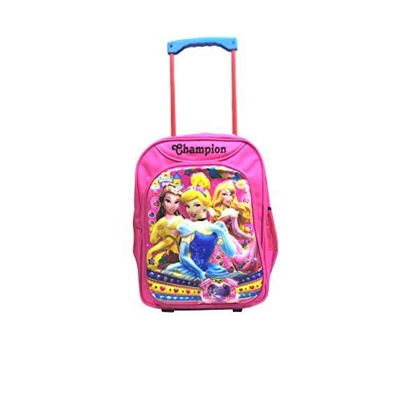 Icy Kid's Princess 16-Inch Waterproof Polyester Trolley Hybrid Backpack (Pink)