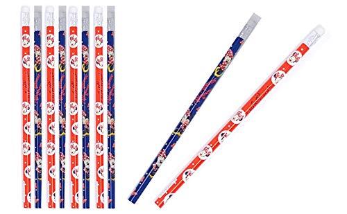 Disney Minnie Mouse: Bleistifte mit Radiergummi - tolle Geschenkidee für Kinder M01 (Minnie 01 x 10)