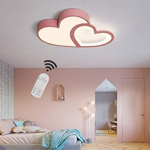 YZSJ LED Baby Lampe Modern Cartoon Deckenleuchte Kreative Kinderzimmerlampe Design Acryl Lampeschirm Deckenlampe Für Kinder Zimmer Schlafzimmer Dimmbar Mit Fernbedienung Mädchen rosa
