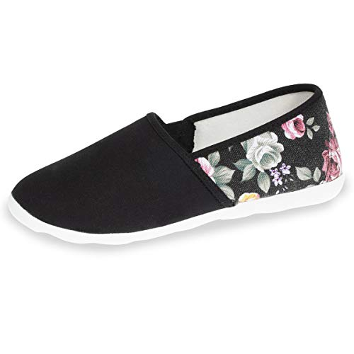 c1d7c0a719671 Isotoner Chaussures Xtra Flex Femme, Noir, 39 EU