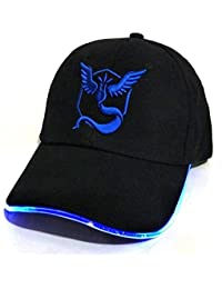 0b1074530051 Playoly Team Mystic GO Pokemon Theme Light Up Hat - Unisex One Size Fits  Most Adjustable Baseball Cap with Embroidered Team Mystic…