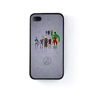 8Bit - Marvel Avengers Movie Coque Silicone Noire Snap-On Protection Arrière Caoutchouc pour Apple® iPhone 4 / 4s de DevilleArt + Livré avec une protection d'écran GRATUITE