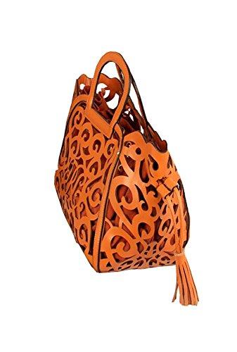 2014 neue Mode Frauen Lederhandtasche Lederhandtaschen Totem Schulterbeutel Frauen Umhängetasche Braun