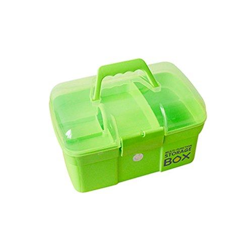 HZH Erste-Hilfe-Kasten-Kasten-Familien-Medizin-Kasten-Installationssatz-Baby-Medizin-Kasten zu mehrschichtigem kleinem Haushalts-medizinischer Kasten (Color : Green) -