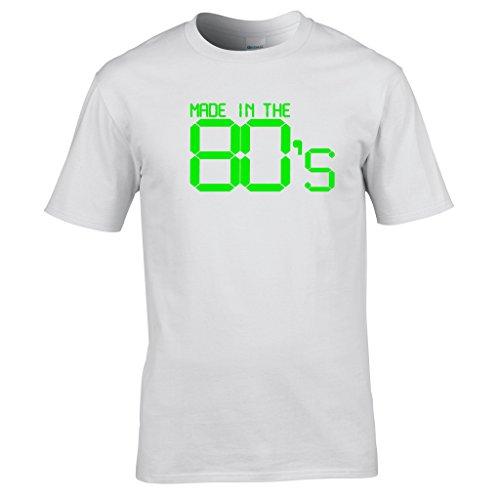 Naughtees kleidung - Made in the 80's t-shirt Großartig für retro partys, schulanfang discos oder zeigt you're stolz to be a kind von den 80's Weiß