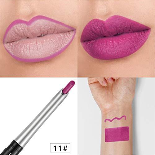 TTLOVE Neue Multifunktions Dauerhafte Lip Liner 17 Farben Lippenstift Wasserdichtes Professionelles Lipgloss Lipliner-Makeup Wasserdichter Lipstick Stick Bleistift Lippenstifte