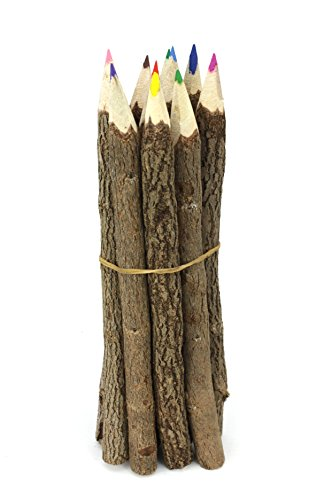 Thai Tree Branch Twig Pencil Bundle - Large Size - Mixed Colours - Multipack of 3 Bundles