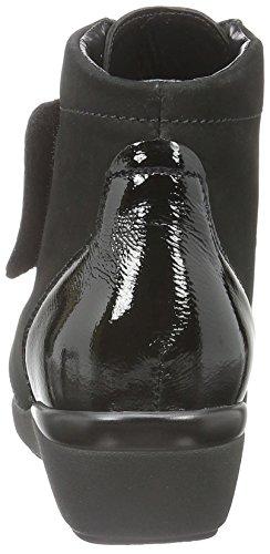 Waldläufer Hisana, Bottes courtes avec doublure chaude femme Noir - Schwarz (Denver Taipei schwarz)