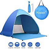 Kratax Pop Up Beach Tent for 1-3 Person,Rated UPF 50+ for UV Sun