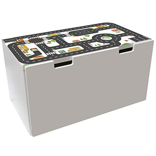 Limmaland Möbelaufkleber Straßen - passend für IKEA STUVA Banktruhe - Kinderzimmer Spieltisch - Möbel Nicht inklusive