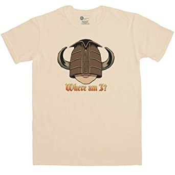 Mens Inspired By Knightmare T Shirt - Where Am I? - Sand - Small