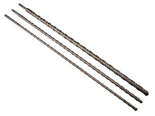 Betonbohrer 3 tlg Set SDS PLUS 12-16-24 mm x 1000mm Hammerbohrer Steinbohrer