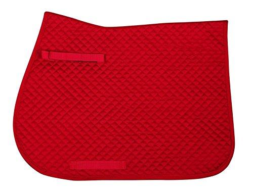 QHP Schabracke Color Basismodell kleine Rautensteppung diverse Größen und Farben (Warmblut VS, Hellrot)