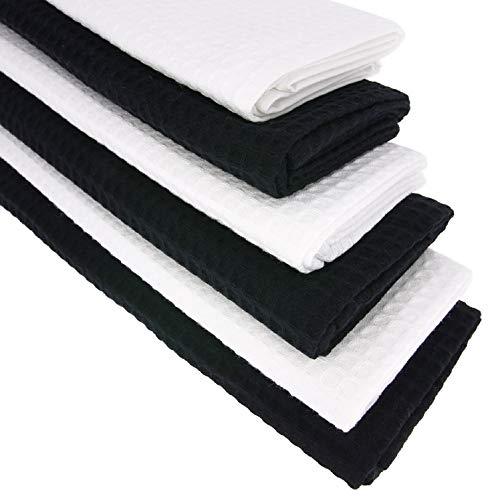 Daloual 2/X Telo doccia asciugamano in cotone a nido d ape 130/x 70/cm//Telo Grigio Antracite