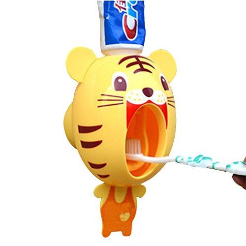 Morza Cartoon Tiger Shape Dentifrice Distributeur Brosse à Dents Accessoires de Salle de Bain Porte