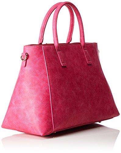 Buffalo Damen Bag Bwg-06 Leather Pu Henkeltasche, 20x30x36 cm Pink (FUCHSIA 01)
