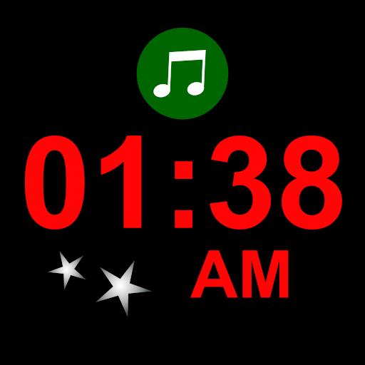 Sanfte Nachtuhr - Uhrzeit und natürliche Töne