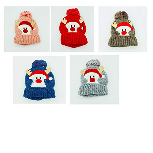 r Hat Kind Cartoon Elk Knitted Hat Thicken Lizi Halten Warmkalter Schutz Hut,Blue,M ()