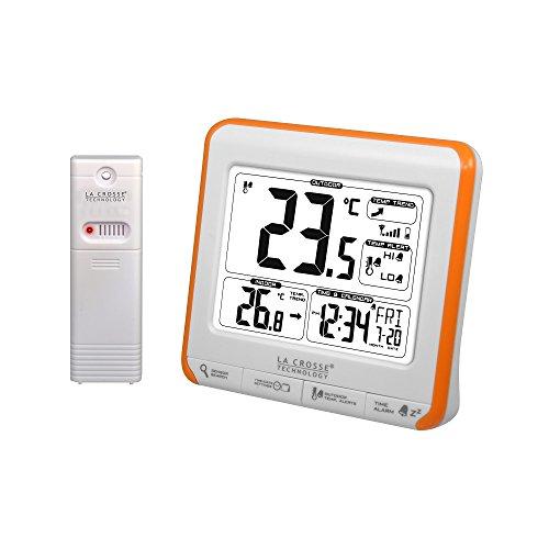 La Crosse Technology WS6811WHI-ORA - Estación meteorológica para Interiores y Exteriores, Color Naranja...