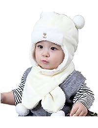 J-TUMIA 2PCS Toddler Baby Wool Cappello Sciarpa Inverno Caldo Beanie cap  con Cerchio Loop 170d8041ee85