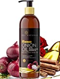 #9: Rey Naturals Onion Hair Oil Nourishing Hair Fall Treatment With Real Onion Extract to Control Intensive Hair Fall and Dandruff