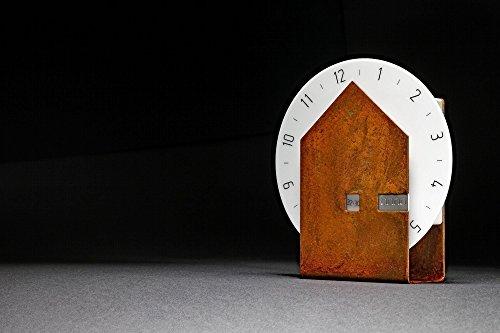 """Tischuhr \""""solo\"""" in der Ausführung \""""Rost\"""" von der Uhrenmanufaktur \""""anno\"""""""