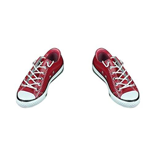 Preisvergleich Produktbild MagiDeal Paar Low-heel Canvas Schuhe Segeltuchschuhe für 12 Zoll weibliche Actionfigur ca. 4.5cm - Rot