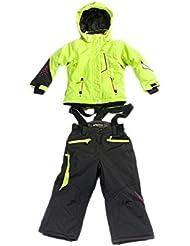 Peak Mountain - conjunto de esquí Niñas 3/8 años FAMIC-anis/negro-6 años