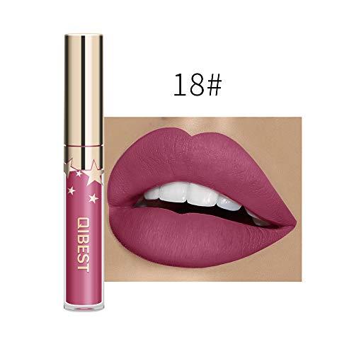 Lipgloss, Matter Flüssiger Lipstick Sexy langanhaltende Lippenwäsche-flüssiger Lippenstift-wasserdichter Lippenglanz-Make-up Lippenkosmetik Moisturizing Beauty Kosmetik