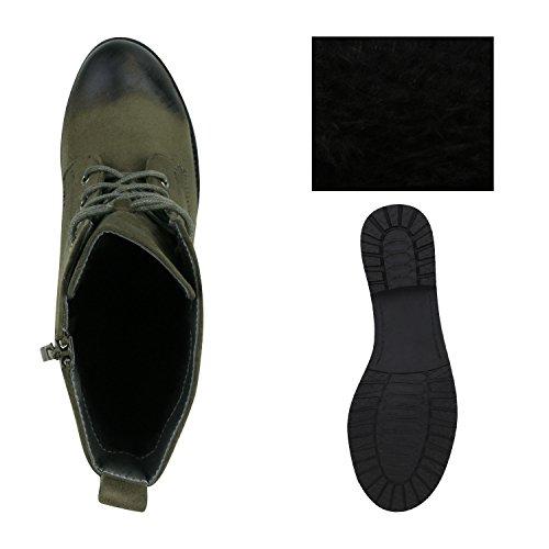 Scarpette Da Donna Boot Paradise Scarpe Con Cerniera Lampo Rivetti Scarpe Stringate Con Strass Stivali Boots Cool Look In Pelle Con Lacci Flandell Kaki Amares