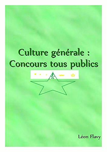 CULTURE GENERALE AUX CONCOURS 2017: CONCOURS ENM 2018*****