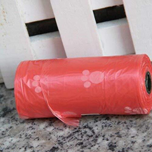 Bolange 1Roll 15pcs Bolsas de caca de perro de mascotas Bolsa de basura Cat Clean Up Gadget de limpieza de mascotas para