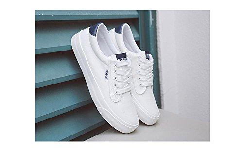 ALUK- Printemps et l'automne version coréenne de chaussures de toile blanc pur plat plats plaque douce ( couleur : Blanc , taille : 36 ) Blanc