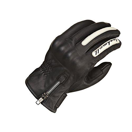Lookwell moto Café Racer indiana guanti per uomini e donne, nero, taglia 4x L