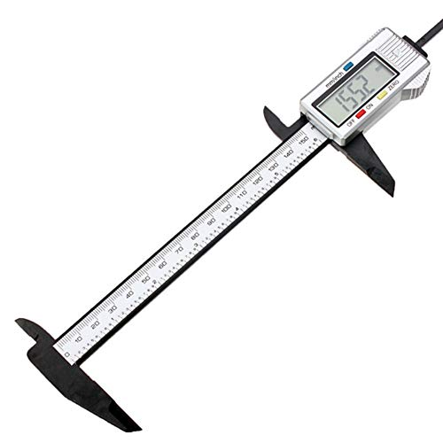 WEREWTR 6 Inch LCD Electronic Digital Vernier Caliper Micrometer Angular Dial Tool Ruler Composite Digital Caliper with Battery,0-150mm - Digital Dial Caliper