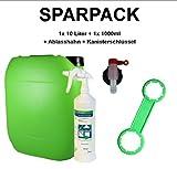 bio-chem® SPARPACK Bio Allzweckreiniger (Multi Clean) 10 Liter Kanister + 1x 1000ml Handsprayflasche mit Sprühkopf + Ablasshahn + Kanisterschlüssel