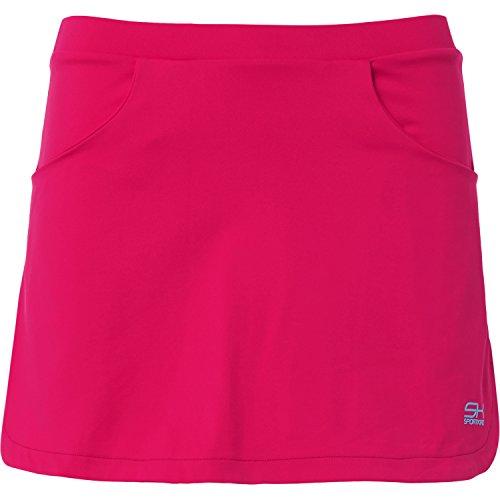 Sportkind Mädchen & Damen Tennis / Hockey / Golf Classic Rock mit Taschen & Innenhose, pink, Gr. 140