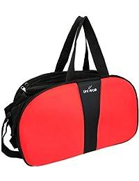 Top Quality Travel Duffel Bag Large, Lightweight Waterproof Luggage, Trolley Bag With Roller Wheels -Black + Orange...