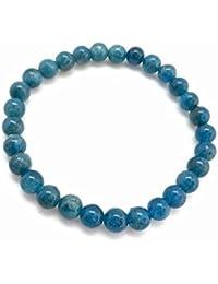Pooja Gems Blue Apatite Bracelet - Elastic Bracelet - Bracelet - Healing Crystals And Stones - Healing Crystal...